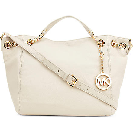 MICHAEL KORS Jet Set Chain medium tote (Vanilla