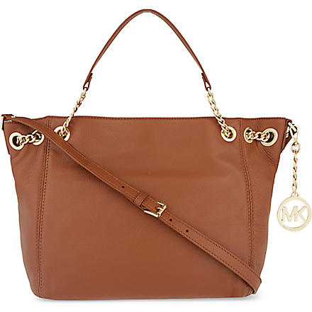 MICHAEL KORS Jet Set medium leather shoulder bag (Luggage