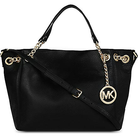 MICHAEL KORS Jet Set Chain medium leather shoulder bag (Black