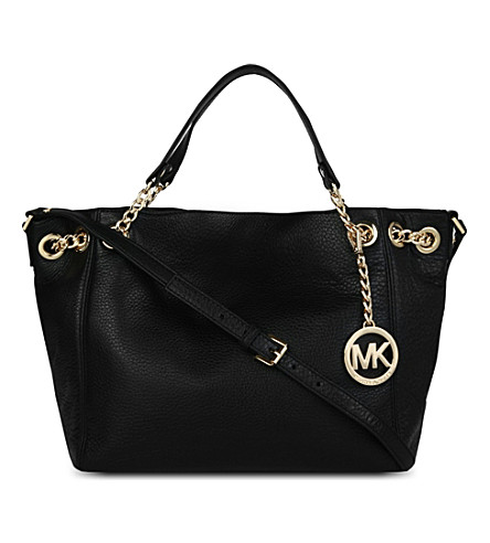 MICHAEL MICHAEL KORS Jet Set Chain medium leather shoulder bag (Black