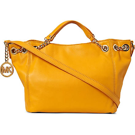 MICHAEL KORS Jet Set Chain medium leather tote (Marigold