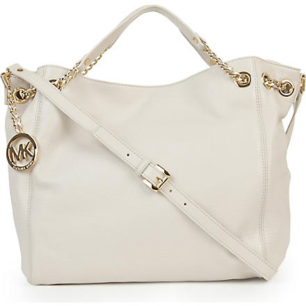 MICHAEL KORS Jet Set chain large tote (Vanilla