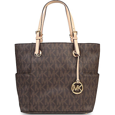 MICHAEL KORS Jets Set East/West Signature tote (Brown