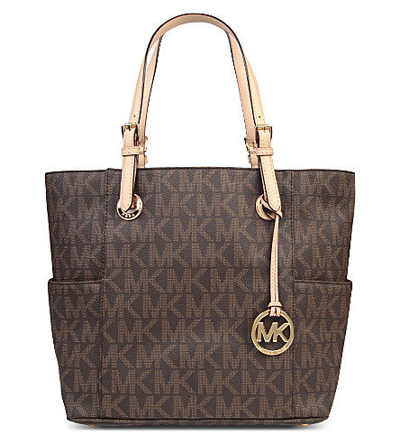 MICHAEL MICHAEL KORS Jets Set East/West Signature tote (Brown