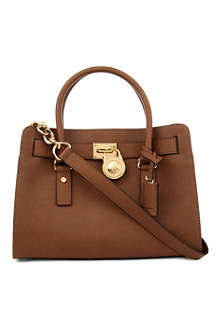 MICHAEL MICHAEL KORS Hamilton saffiano leather satchel