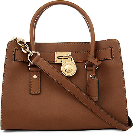 MICHAEL KORS Hamilton saffiano leather satchel (Luggage