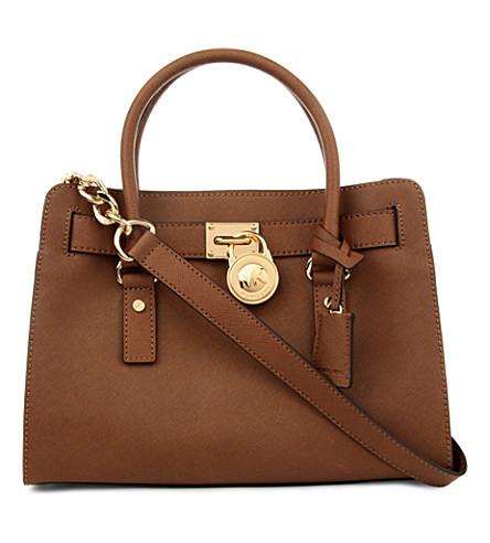 MICHAEL MICHAEL KORS Hamilton saffiano leather satchel (Luggage