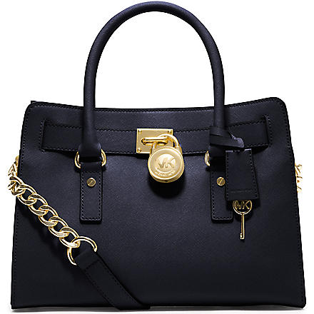 MICHAEL MICHAEL KORS Hamilton saffiano leather satchel (Navy