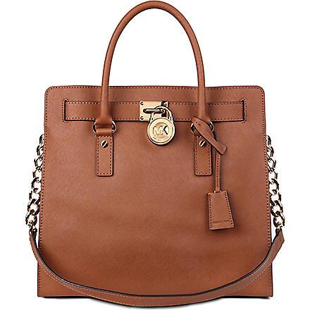 MICHAEL MICHAEL KORS Hamilton saffiano-leather tote (Luggage