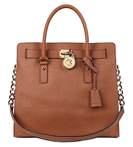MICHAEL MICHAEL KORS Hamilton saffiano-leather tote (Luggage