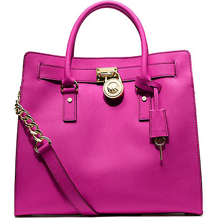 MICHAEL KORS Hamilton leather tote (Raspberry