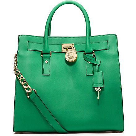 MICHAEL KORS Hamilton leather tote (Palm