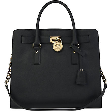 MICHAEL KORS Hamilton saffiano leather tote (Black