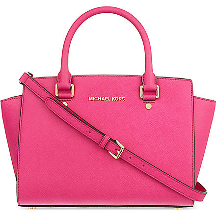 MICHAEL KORS Selma medium satchel (Raspberry