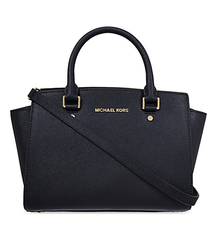 MICHAEL MICHAEL KORS Selma medium Saffiano leather satchel (Black