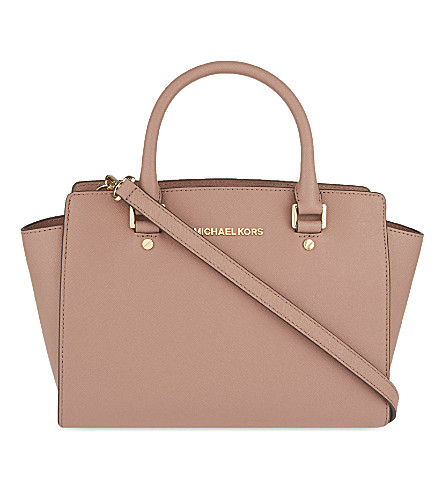 MICHAEL MICHAEL KORS Selma medium Saffiano leather satchel (Dusty rose