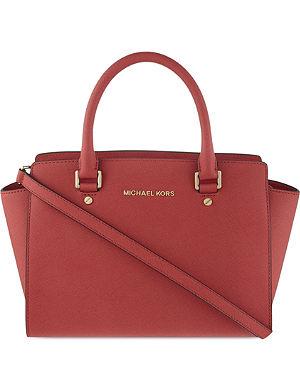 MICHAEL MICHAEL KORS Selma medium Saffiano leather satchel