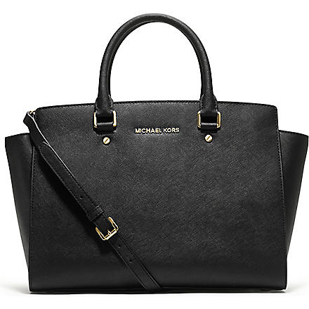 MICHAEL KORS Selma large top-zip satchel (Black
