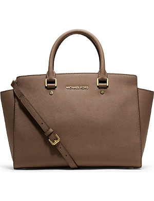 MICHAEL MICHAEL KORS Selma large saffiano leather satchel