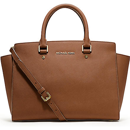 MICHAEL KORS Selma large zip-top satchel (Luggage