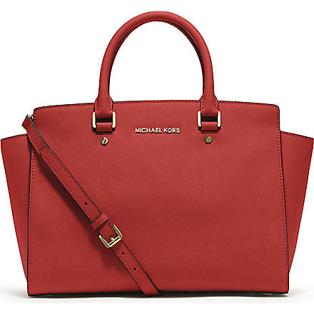 MICHAEL KORS Selma large top-zip satchel (Mandarin