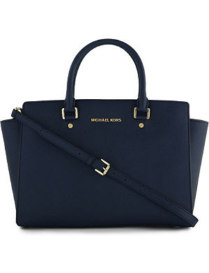 MICHAEL MICHAEL KORS Selma saffiano leather satchel