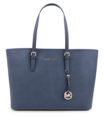 MICHAEL MICHAEL KORS Jet Set medium multifunctional leather tote (Navy