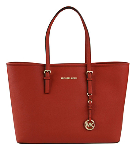 MICHAEL MICHAEL KORS Jet Set Travel tote (Red