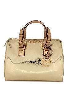 MICHAEL KORS Grayson metallic bowling bag