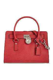 MICHAEL KORS Hamilton saffiano leather satchel