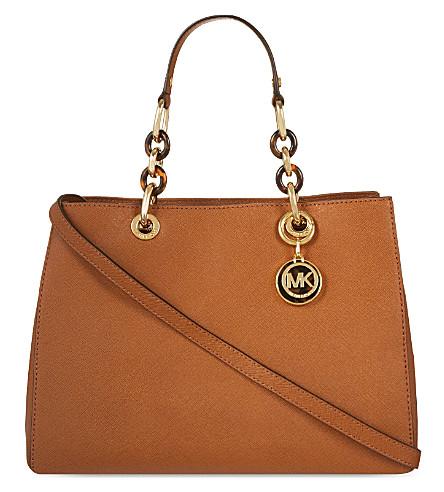 MICHAEL MICHAEL KORS Cynthia medium Saffiano leather satchel (Luggage