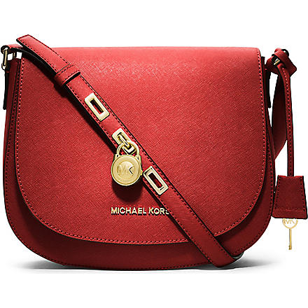 MICHAEL KORS Hamilton large leather cross-body bag (Mandarin