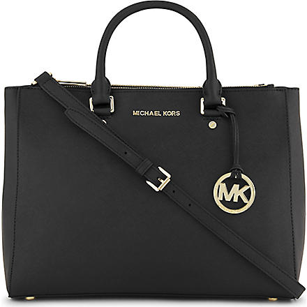 MICHAEL KORS Saffiano leather tote (Black