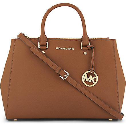 MICHAEL KORS Saffiano leather tote (Luggage