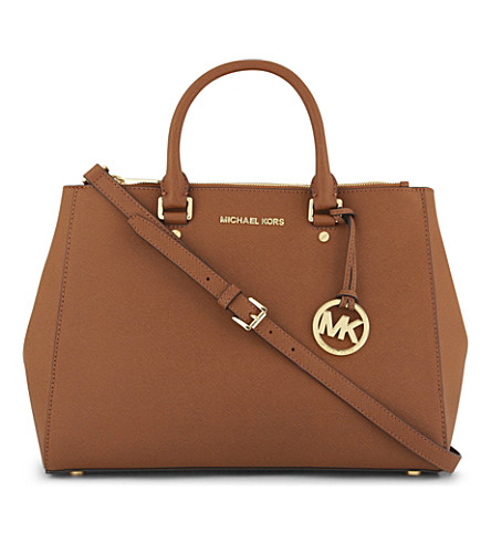 MICHAEL MICHAEL KORS Sutton Saffiano leather tote (Luggage