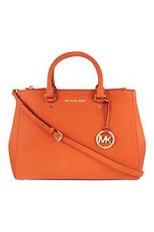 MICHAEL KORS Sutton large leather satchel
