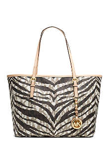 MICHAEL KORS Jet Set Travel small tiger-print tote