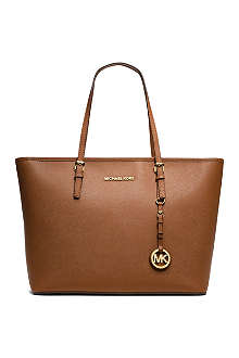 MICHAEL KORS Jet Set Travel medium saffiano tote