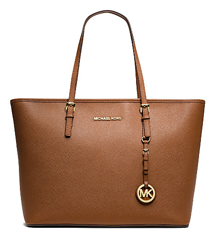 MICHAEL MICHAEL KORS Jet Set Travel medium saffiano tote (Luggage