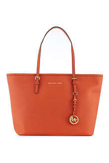 MICHAEL KORS Jet Set leather tote
