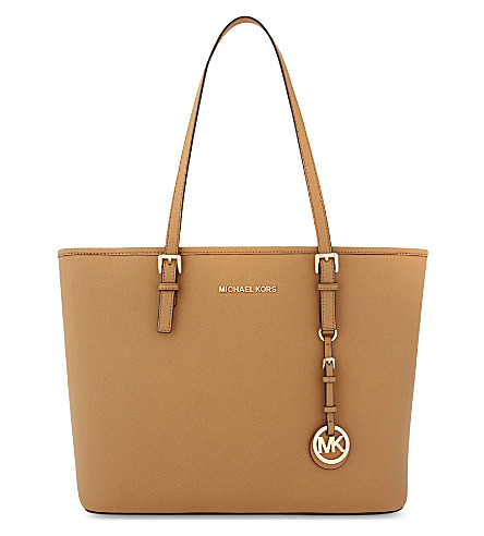 MICHAEL MICHAEL KORS Jet Set Travel Saffiano leather tote (Acorn