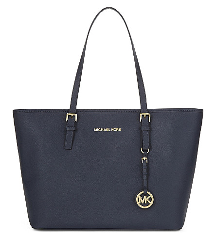MICHAEL MICHAEL KORS Jet Set Travel Saffiano leather tote (Admiral