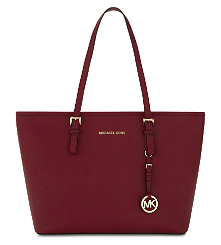 MICHAEL MICHAEL KORS Jet Set Travel Saffiano leather tote (Cherry