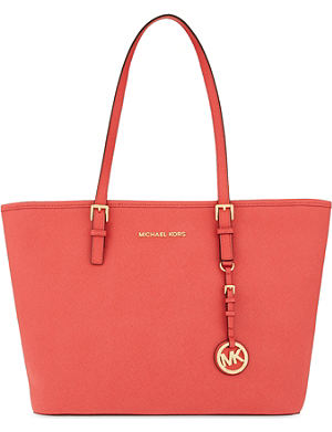 MICHAEL MICHAEL KORS Jet Set Travel saffiano leather tote