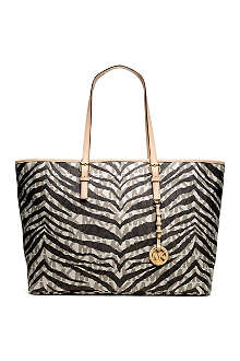 MICHAEL KORS Jet Set tiger print medium tote
