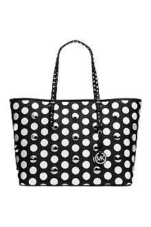 MICHAEL KORS Jet Set Travel studded polka dot tote