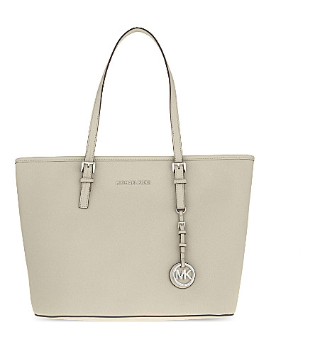 MICHAEL MICHAEL KORS Jet Set Travel leather tote (Cement