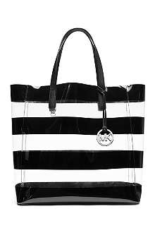 MICHAEL KORS Eliza large striped tote