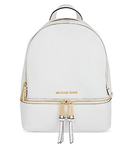 MICHAEL MICHAEL KORS Rhea medium leather backpack (Optic white
