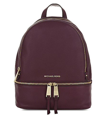 MICHAEL MICHAEL KORS Rhea medium leather backpack (Plum